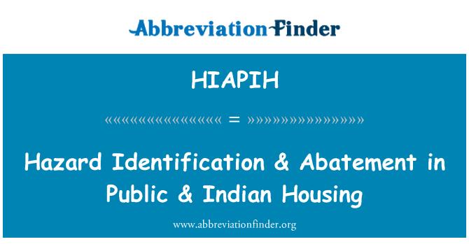 HIAPIH: Hazard Identification & Abatement in Public & Indian Housing