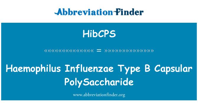 HibCPS: Haemophilus Influenzae tipo B polisacárido Capsular