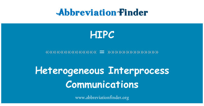 HIPC: Türdeş olmayan işlemler arası iletişim