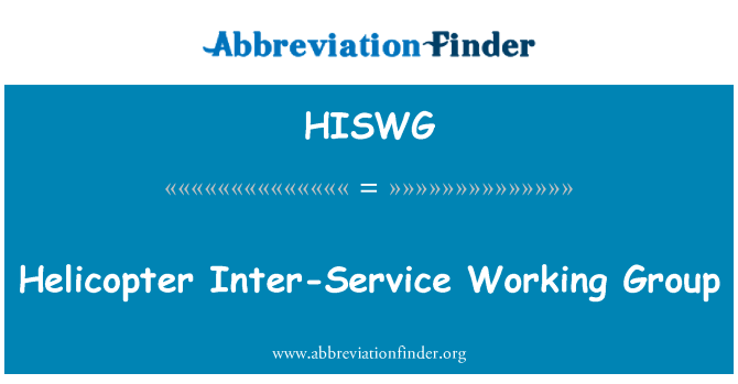 HISWG: Helicopter Inter-Service Working Group