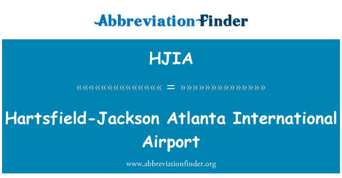HJIA: Hartsfield-Jackson Atlanta International Airport