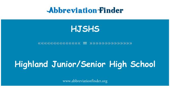 HJSHS: Highland Junior/Senior High School
