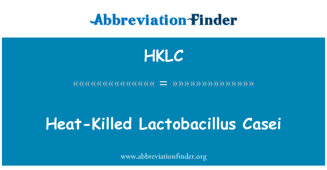 HKLC: 热灭活干酪乳杆菌