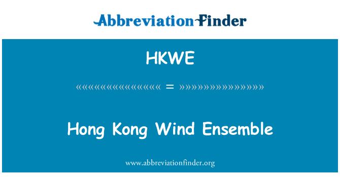 HKWE: Hong Kong Wind Ensemble