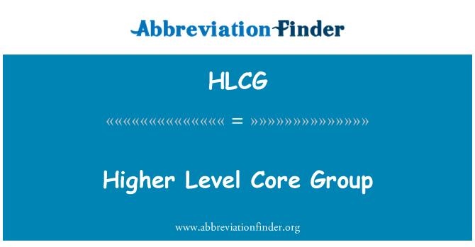 HLCG: Mayor nivel de núcleo