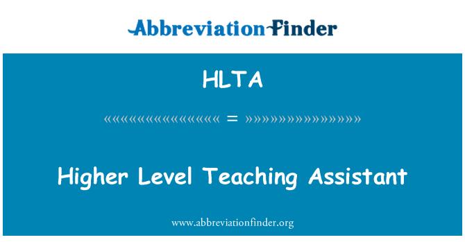 HLTA: Higher Level Teaching Assistant
