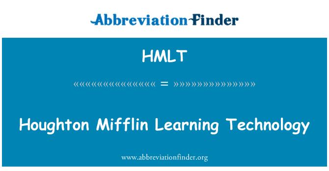 HMLT: Houghton Mifflin Learning Technology