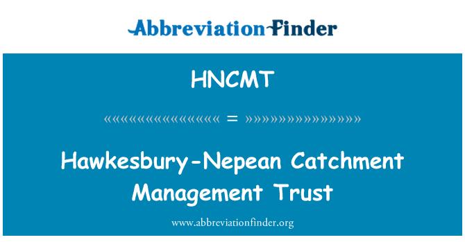 HNCMT: Hawkesbury-Nepean Catchment Management Trust