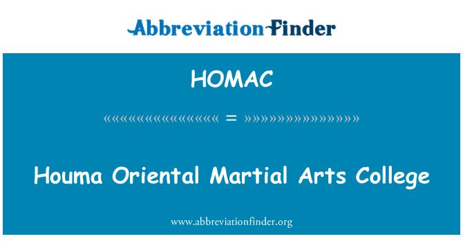 HOMAC: Houma Oriental Martial Arts College