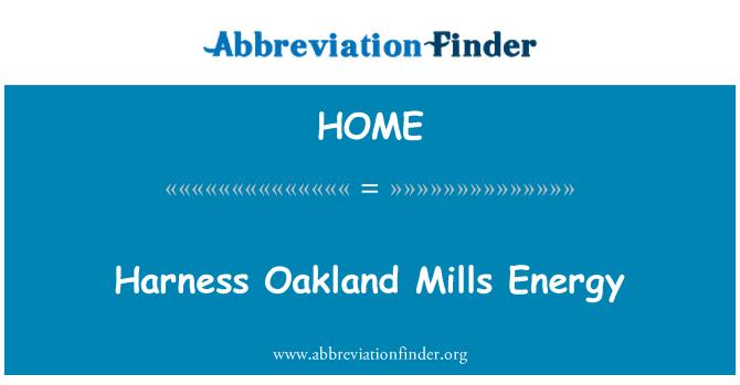HOME: Arnés Oakland Mills energía