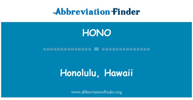 HONO: Honolulu, Hawaii