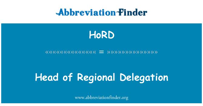 HoRD: Šef regionalne delegacije