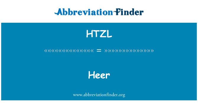 HTZL: Heer