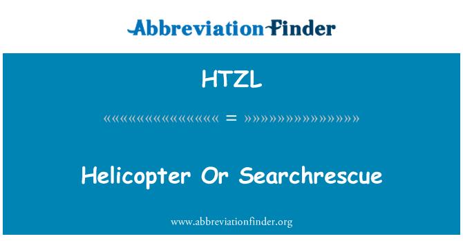 HTZL: Helikopter atau Searchrescue