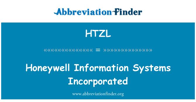 HTZL: 霍尼韦尔信息系统公司成立为法团