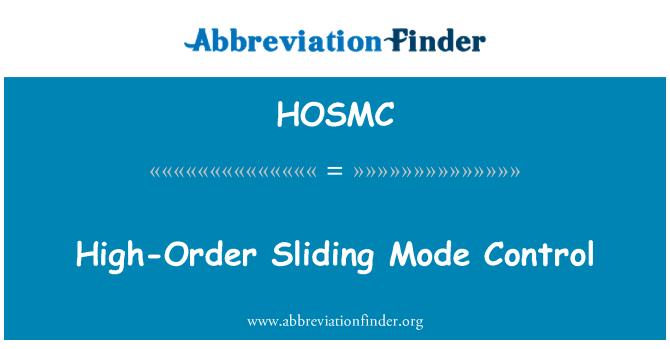 HOSMC: High-Order Sliding Mode Control