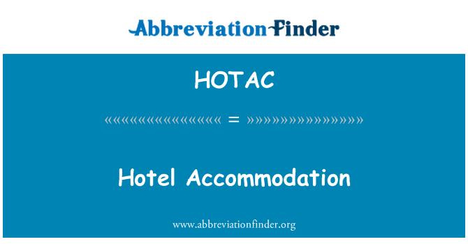 HOTAC: Hotel alojamiento