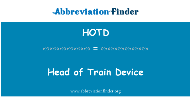 HOTD: Head of Train Device