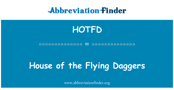 HOTFD: House of the Flying Daggers