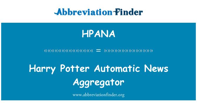 HPANA: Agregador de noticias automático de Harry Potter