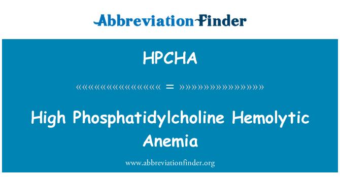 HPCHA: High Phosphatidylcholine Hemolytic Anemia