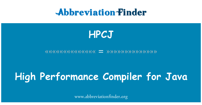 HPCJ: High Performance Compiler for Java