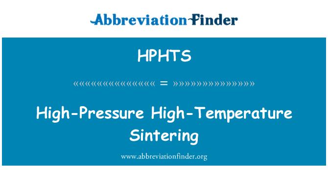 HPHTS: Vysokotlaké vysoce teplota slinování