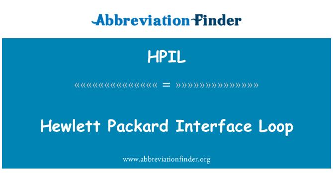 HPIL: Hewlett Packard Interface Loop