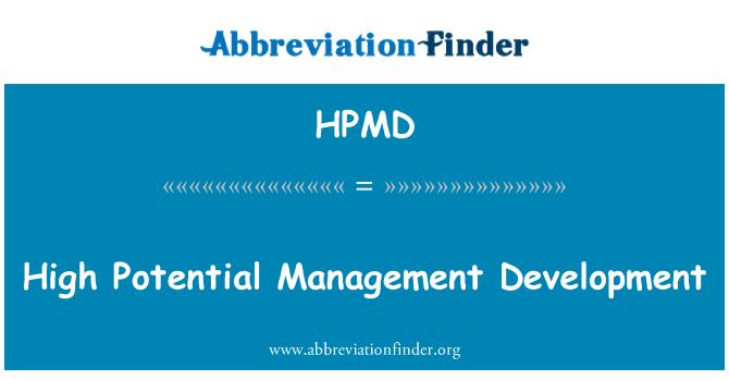 HPMD: High Potential Management Development