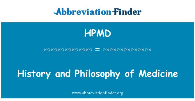 HPMD: Historia y filosofía de la medicina