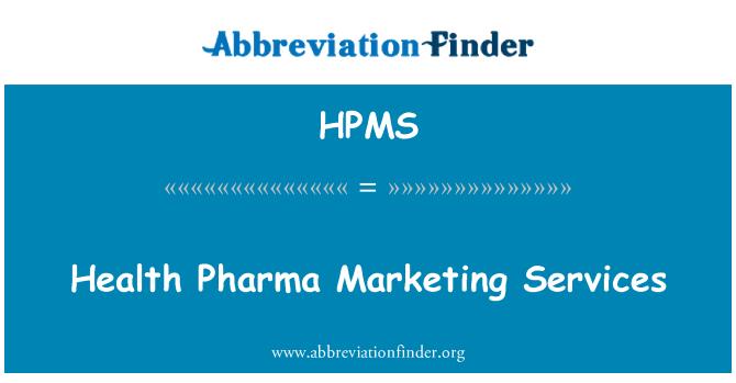 HPMS: Sağlık ilaç pazarlama hizmetleri
