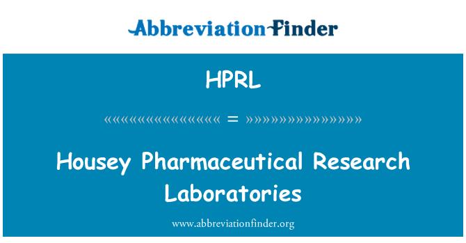 HPRL: Laboratorios de investigación farmacéutica housey