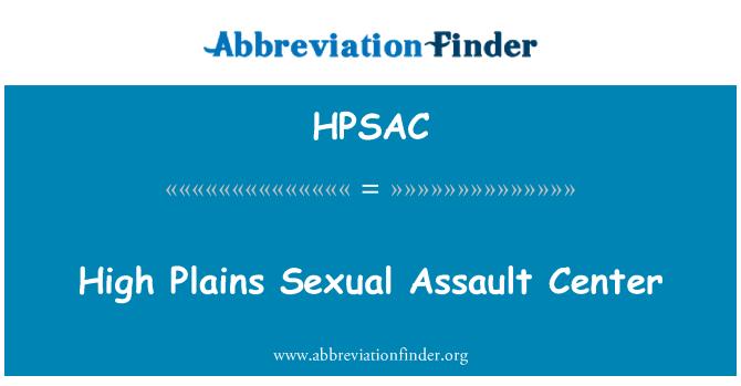 HPSAC: High Plains Sexual Assault Center