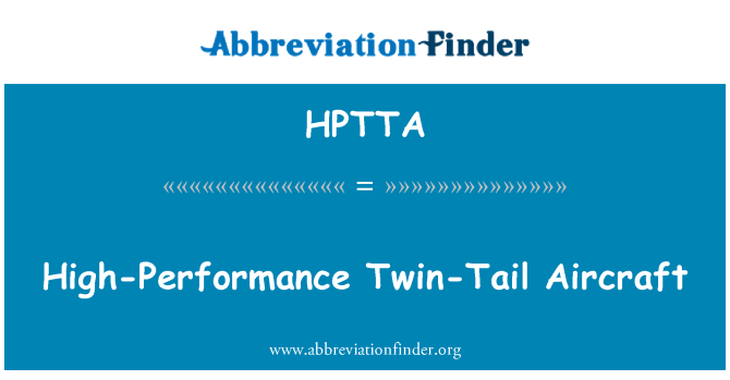 HPTTA: High-Performance Twin-Tail Aircraft