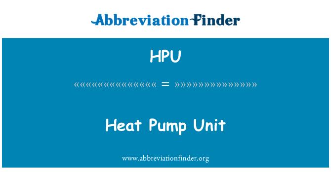 HPU: Isı pompası ünitesi