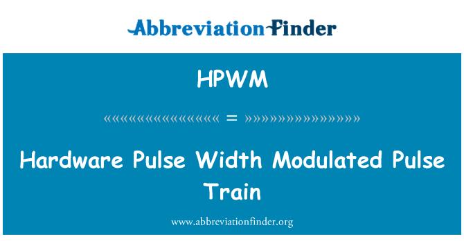 HPWM: Hardware Pulse Width Modulated Pulse Train