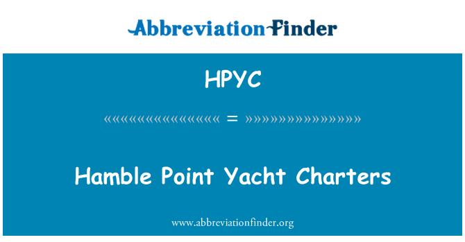 HPYC: Hamble Point Yacht Charters