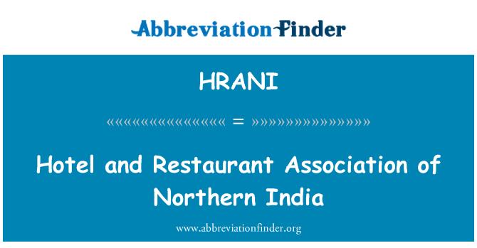 HRANI: Hotel a restaurace asociace severní Indie
