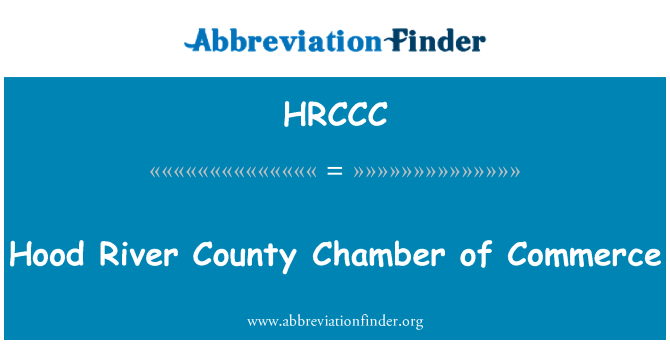 HRCCC: Hood River County Chamber of Commerce