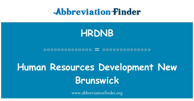 HRDNB: Human Resources Development New Brunswick