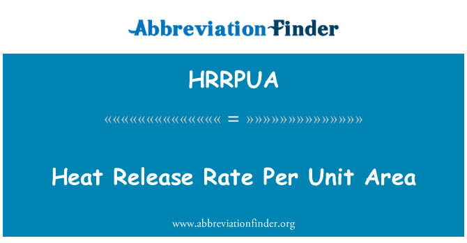 HRRPUA: Heat Release Rate Per Unit Area