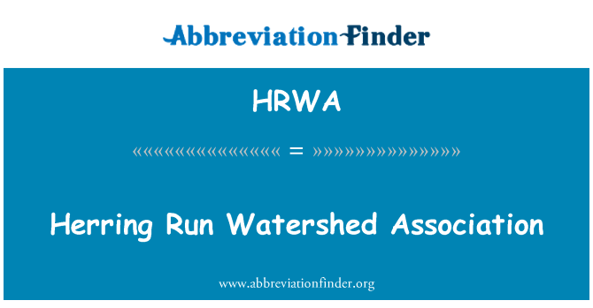 HRWA: Herring Run Watershed Association