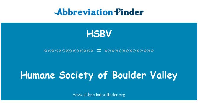 HSBV: Humane Society of Boulder Valley