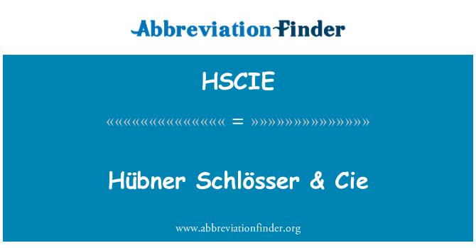 HSCIE: Hübner Schlösser & Cie
