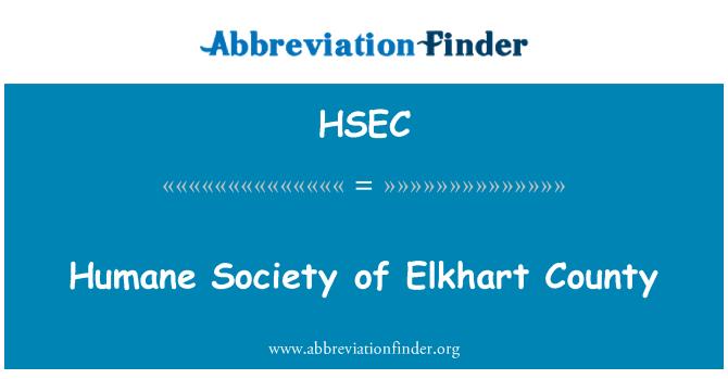 HSEC: Sociedad protectora de animales del Condado de Elkhart
