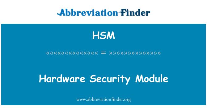 HSM: Hardware Security Module
