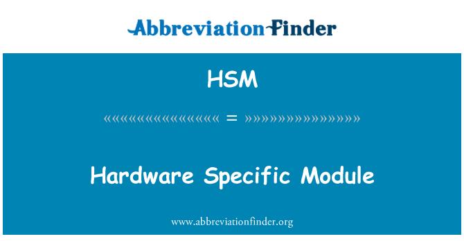 HSM: Módulo específico de hardware