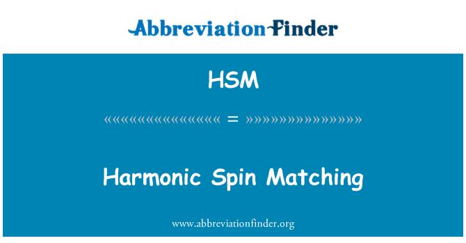 HSM: Giro armónico que empareja