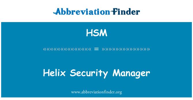 HSM: Administrador de seguridad de hélice
