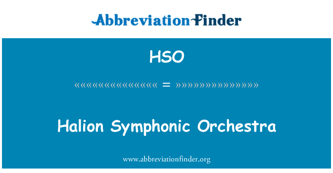 HSO: Orquesta Sinfónica HALion
